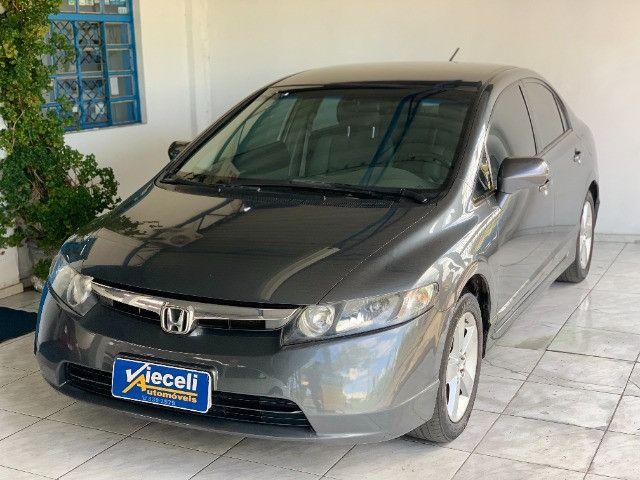 Honda Civic LXS 1.8 automático 2007, Único dono - Foto 2
