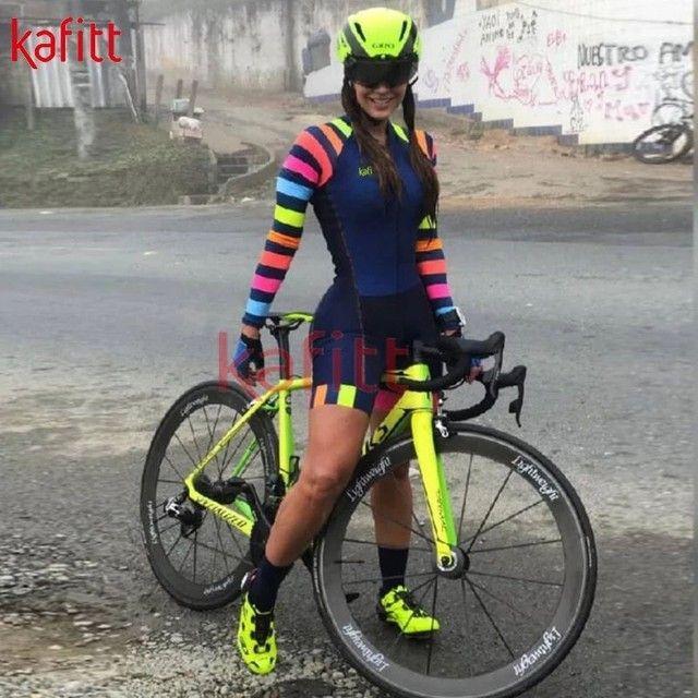 Macaquinho (NOVO!) ciclismo feminino com espuma e gel