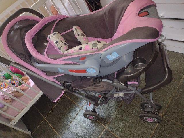 Carrinho de bebê e bebe conforto - Foto 3