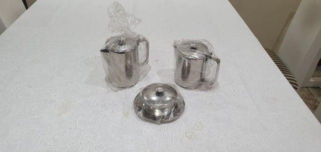 Inox- kit para servir café e chá