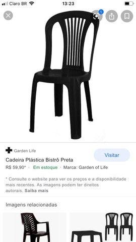Cadeiras plásticas só vendo o jogo completo  - Foto 2