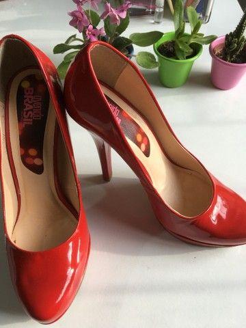 Sapato verniz vermelho tam38 - Foto 2