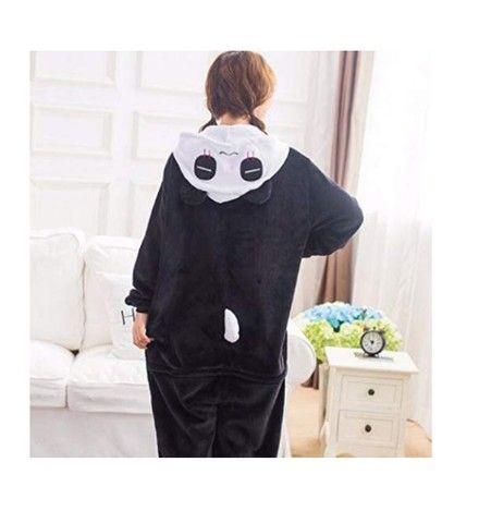 Lindo Pijama Fantasia Panda Macacão com Capuz - Foto 3