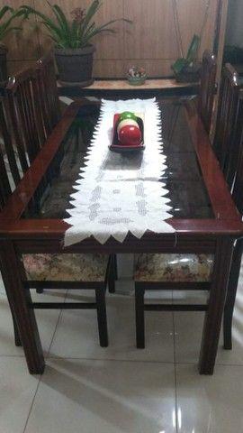 Mesa em madeira Mogno Promoção ótimo estado