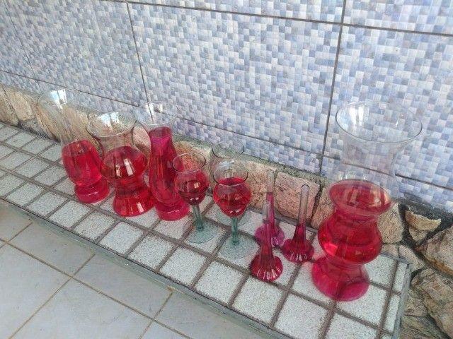 Vasos Em Vidro tipo Taça e Castiçal para Festa, Casamento e Flores - Foto 2