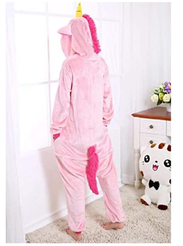 Acabando: Kit Pijama Unicórnio Rosa com Pantufa Pata - Foto 3