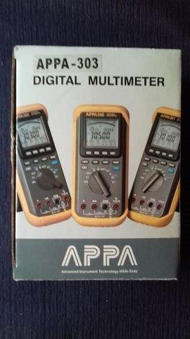 Multímetro Md6530 Appa 303 True Rms. CD e Cabo RS