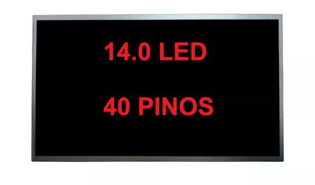 Tela led 14 40 pinos seminova positivo cce samsung dell hp outros