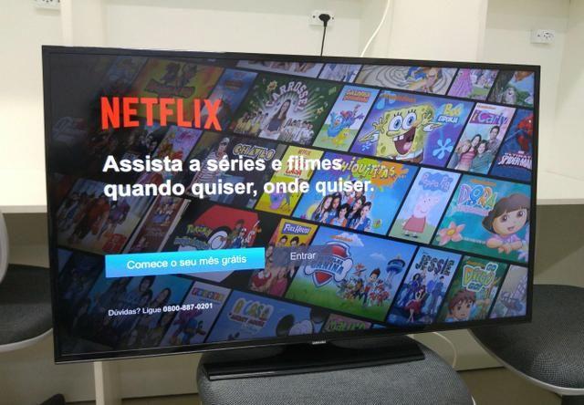 smart tv samsung 40 pol wi fi youtube e netflix udio tv v deo e fotografia piedade. Black Bedroom Furniture Sets. Home Design Ideas