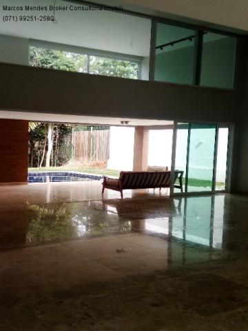 Linda casa pra venda ou locação - Alphaville Salvador 1. Lote diferenciado em parte alta.  - Foto 14