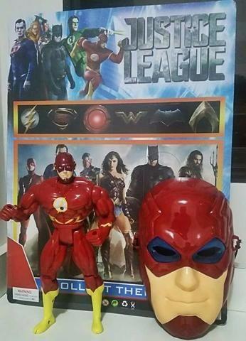 Boneco Flash Musical 25cm com Mascara Liga Da Justiça - Foto 6