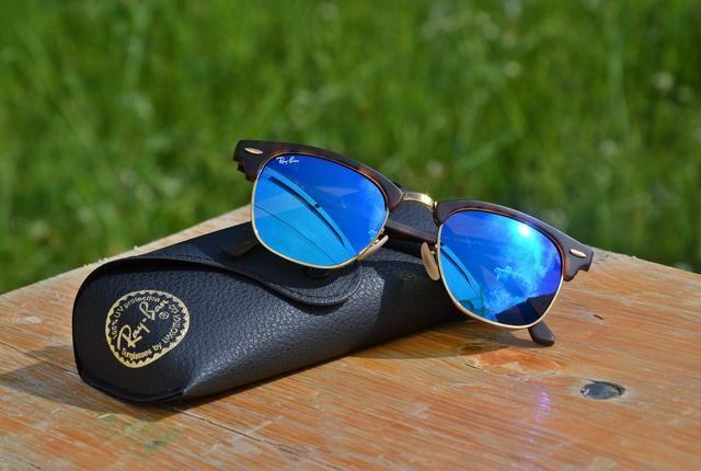 e921a5e7a8a48 Rayban óculos lente azul - Bijouterias, relógios e acessórios ...