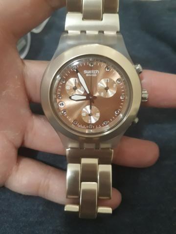 9eff994ff68 Relógio swatch diaphane rose original - Bijouterias