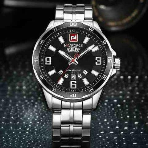 91828688cdd63 Relógio Naviforce NF9106 Social Prata - Masculino - Bijouterias ...