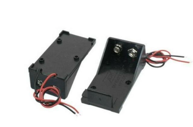 COD-CP186 Caixa Case Suporte Bateria 9v Arduino Automação Robotica