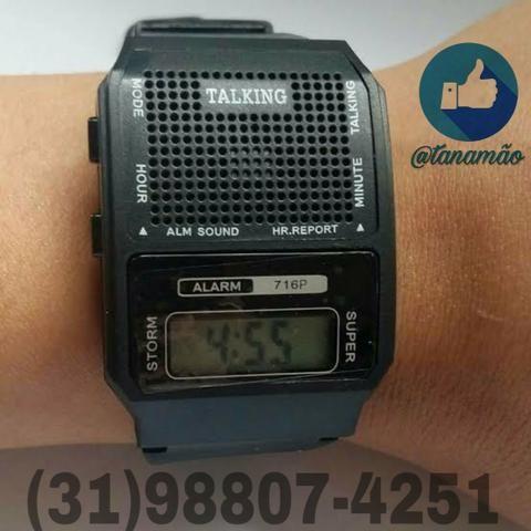 45b6e0f2548 Relógio que fala - Bijouterias