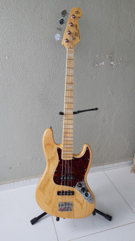 Contrabaixo Sx Jazz Bass Sjb75 4c Escudo Tortoise Natural