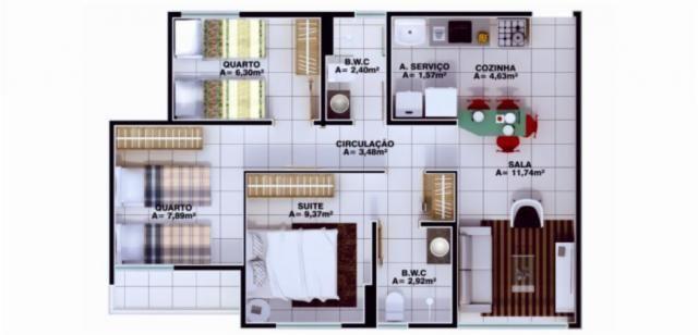 Apartamento à venda, 3 quartos, 1 suíte, 1 vaga, Uruguai - Teresina/PI - Foto 5