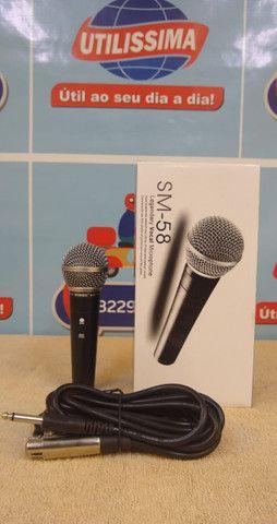 Microfone SM-58 com cabo - Foto 2