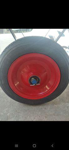 Roda maciça 350x8 rolamento