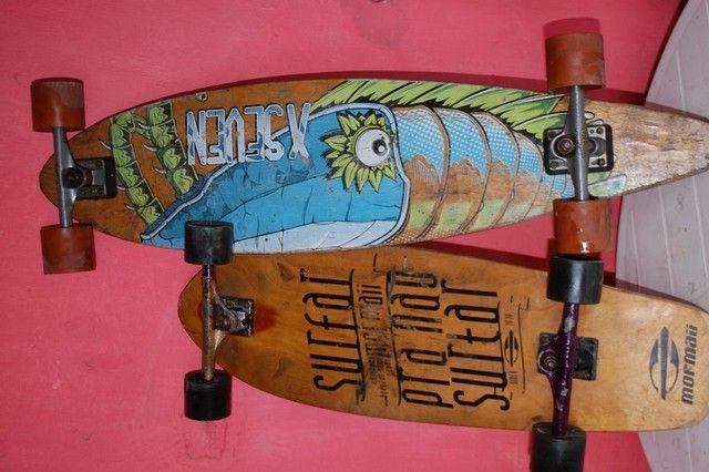 Long board com capacetes - Foto 6