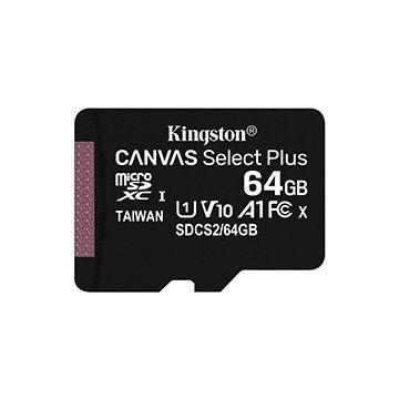 Cartão de memória microSD Kingston Canvas Select Plus 64GB
