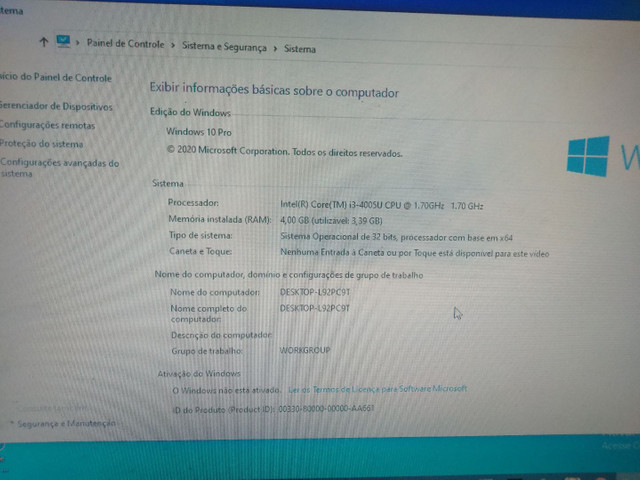 Notebook icore 3 positivo