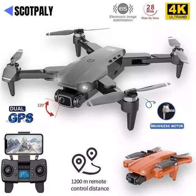Drone L900 Pro 4k GPS Distância 1,2km Vôo 25mins Função Siga-me automático PROMOÇÃO