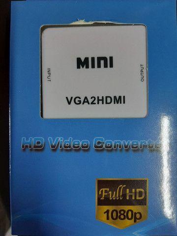 Adaptador VGA X HDMI  e HDMI X VGA