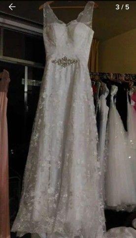 Vestido de Noiva Modelo Trapézio -40 a 44 - Foto 2