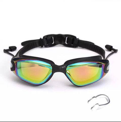 Óculos De natação Profissional com tampões de ouvido e Nariz