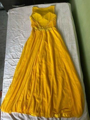 Vestido de festa / vestido de madrinha amarelo - Foto 2
