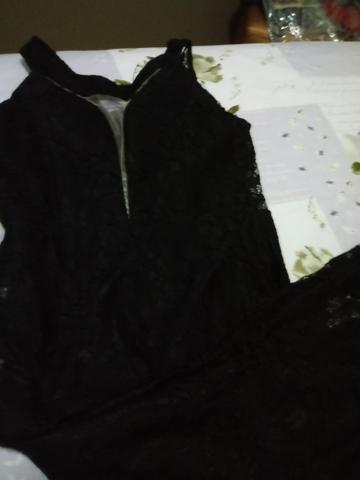 Vestido Preto todo rendado