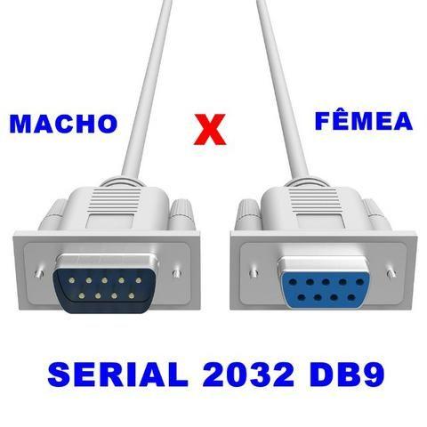 Cabo Serial 9 Pinos Macho X Fêmea Rs232 Db9 Impressora Balança Fiscal 4,7m