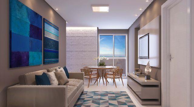 Apartamento enfrente a praia com 500,00 de entrada