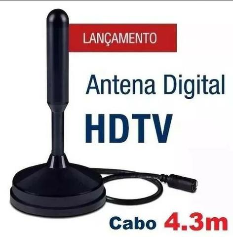 Antena Interna Tv Digital Hdtv Dtv - Full Hd Sinal Digital - Foto 3
