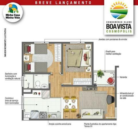 Boa Vista Aptos 2 Dorms 47m2 c/Varanda 1 Vaga,Lazer Completo,Ponto de Ar Condicionado - Foto 5