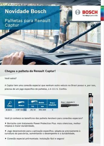 Par de Palheta do Limpador Dianteiro Original Bosch Renault Captur - Foto 2