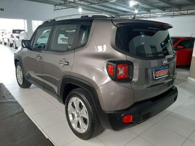 Jeep renegade automática limited 1.8 completo banco de couro único dono garantia fabrica - Foto 3
