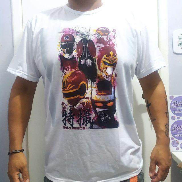 Camisa Branca personalizada Estampa grande