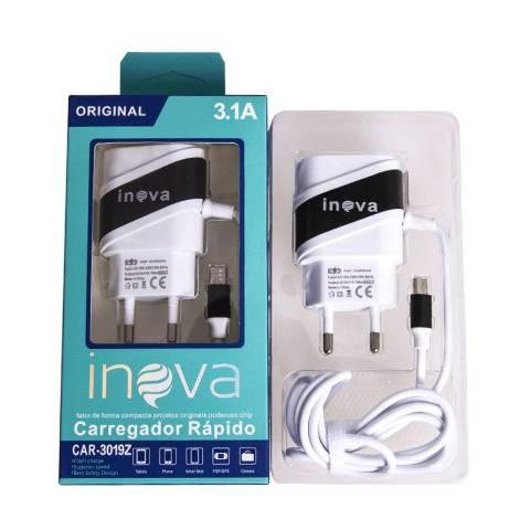 Carregadores Turbo Inova 3.1, entradas V8, Tipo C e iPhone R$ 18,00