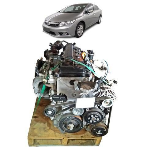 Motor Honda Civic Exs 2012 Parcial À Base De Troca