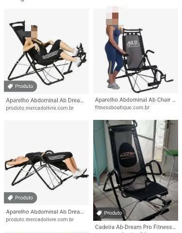 Cadeira de exercício com marcas de uso