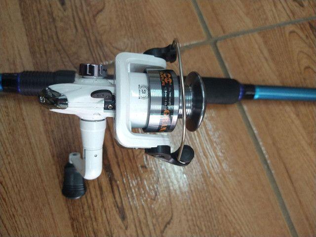 3-Kit para pescar de tilapias (varas firmes para pesca de batida e dedo duro ) - Foto 2