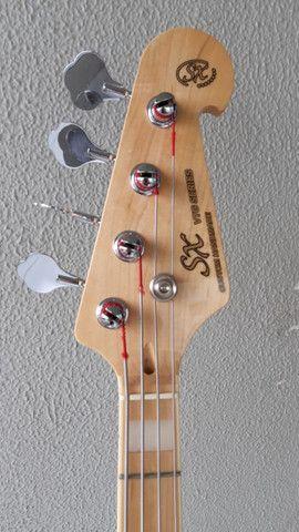 Contrabaixo Sx Jazz Bass Sjb75 4c Escudo Tortoise Natural - Foto 4