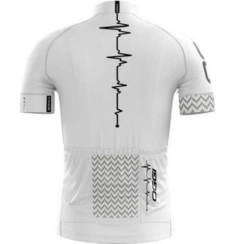 Camisa ciclista branca  - Foto 5