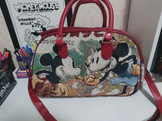 Mala de mão Mickey e Minnie