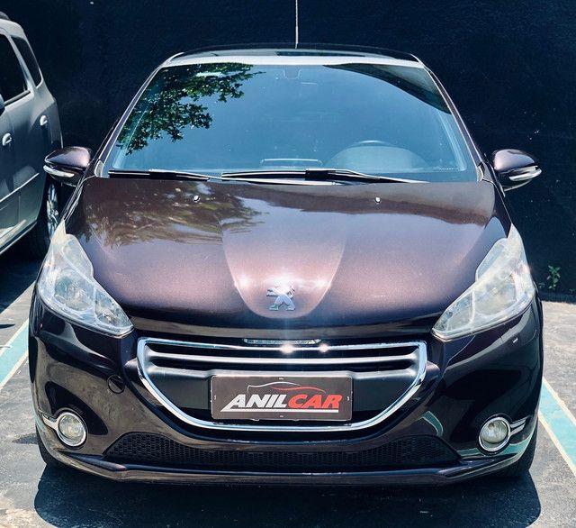 Peugeot 208 Allure 1.5 2014 Marrom Manual Flex + Gnv