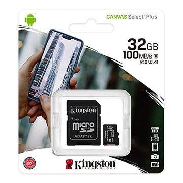 Cartão de memória microSD Kingston Canvas Select Plus 32GB
