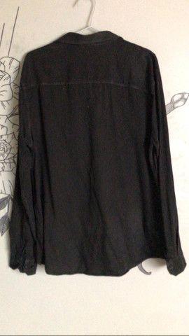 blusão de botões semi novo black - Foto 2